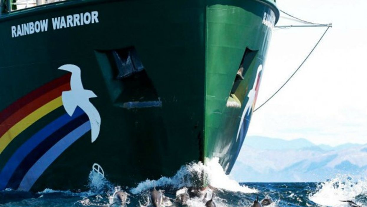 The Rainbow Warrior III is one of the greenest vessels around