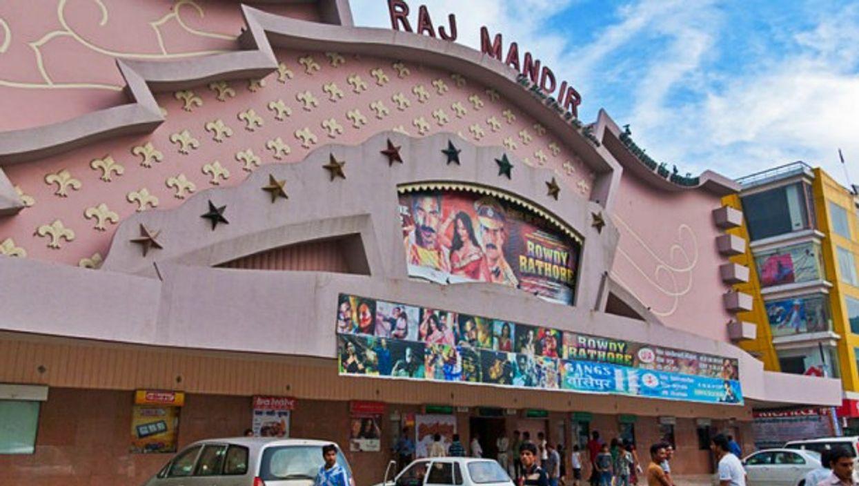 The Raj Mandir Cinema in Jaipur