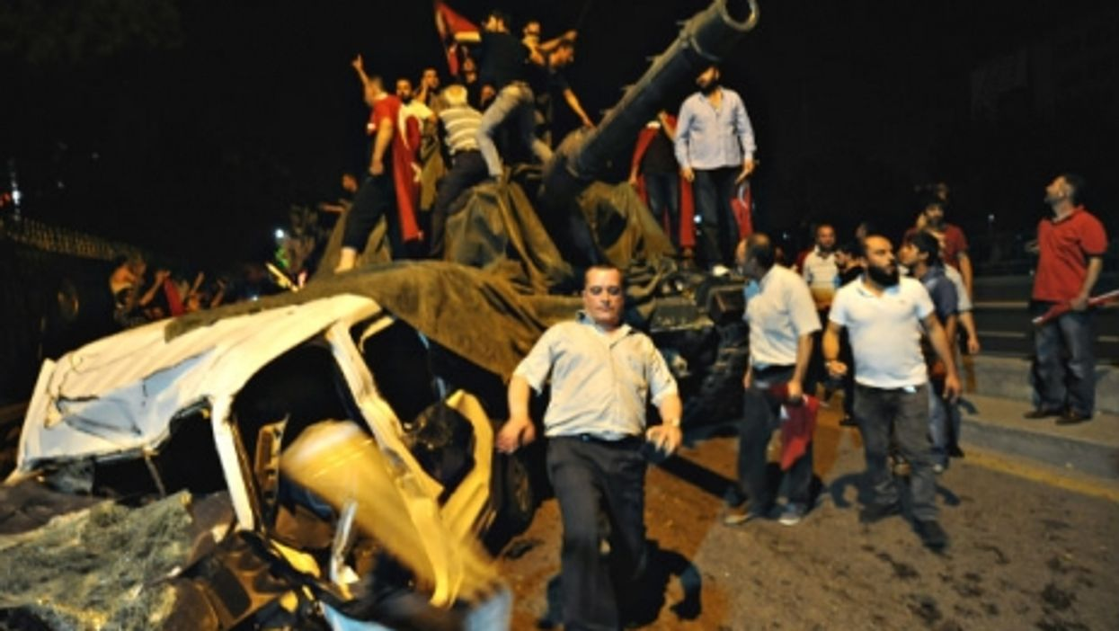 The remains of Friday night's attempted coup in the capital of Ankara