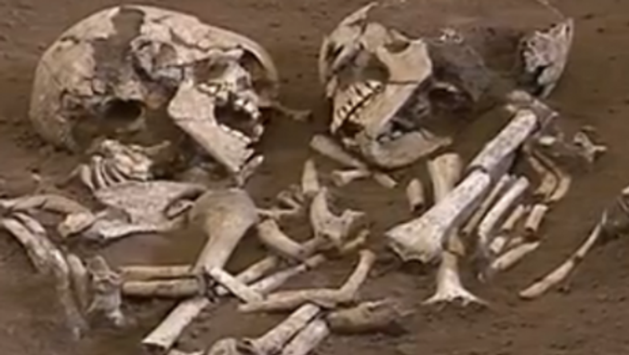 The remains of the entwined Neolithic lovers