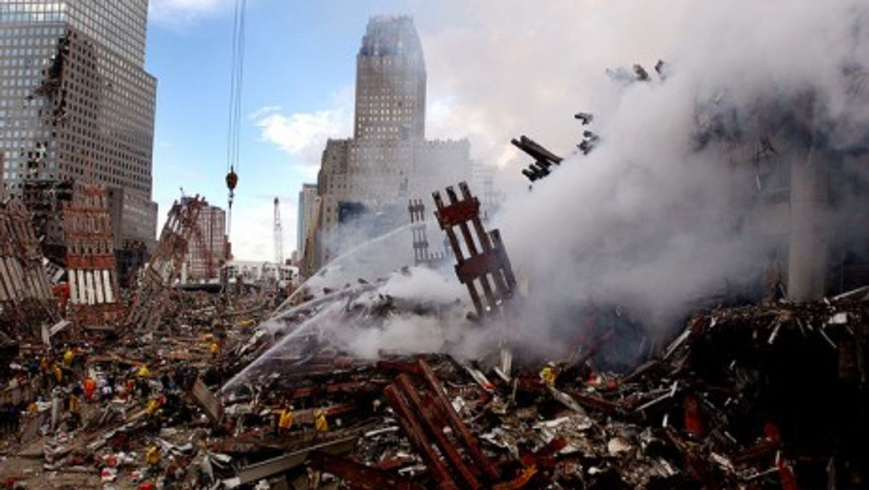 The remains of the World Trade Center (slagheap)