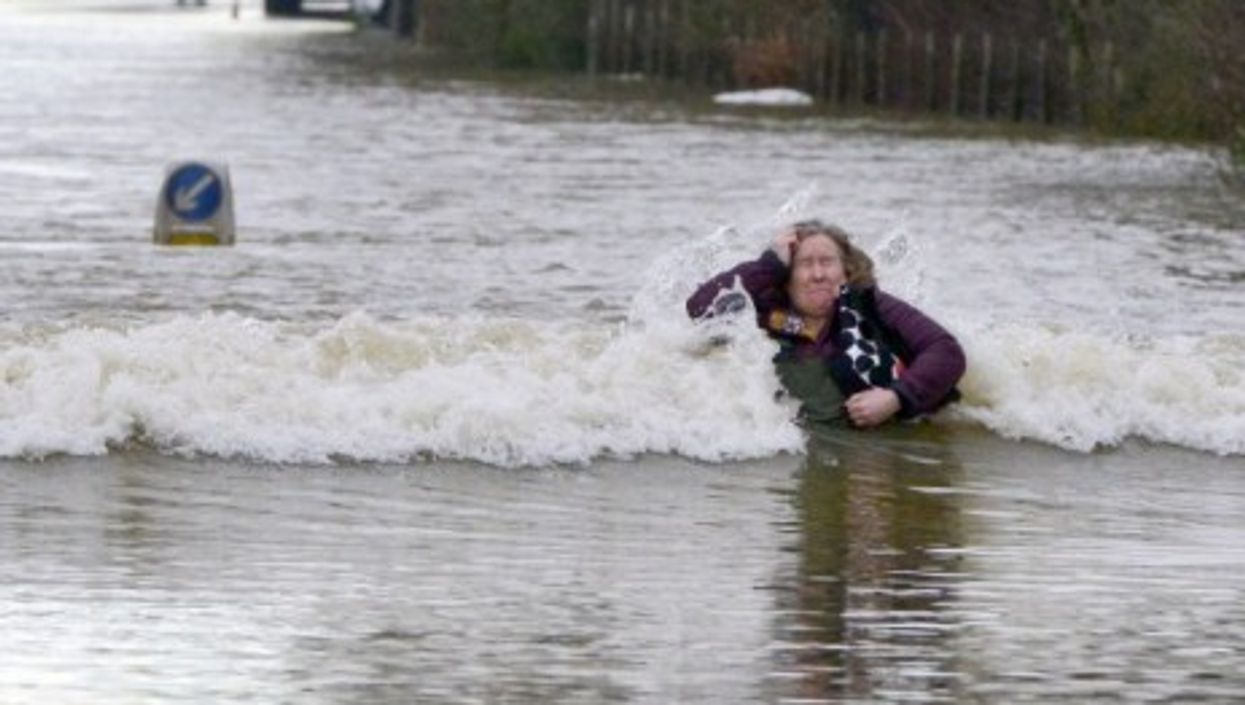 The River Thames burst its banks and reached record levels.