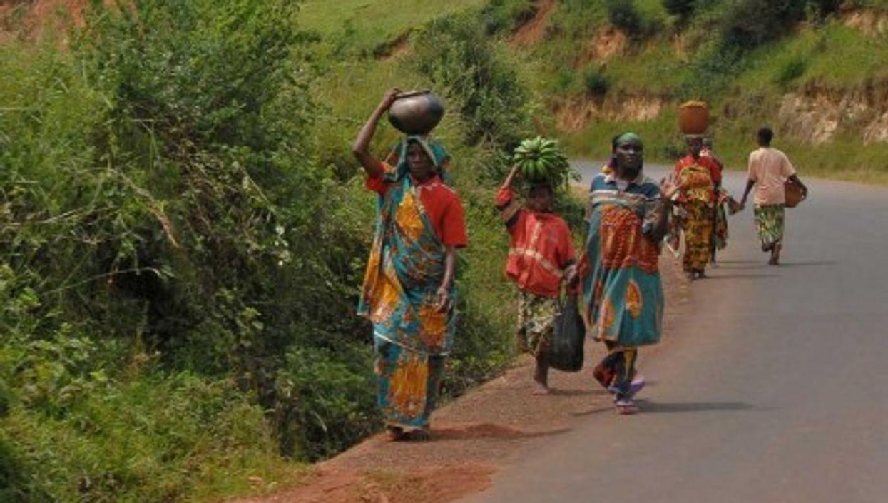 The road between Bujumbura and Gitega in Burundi (Dave Proffer)