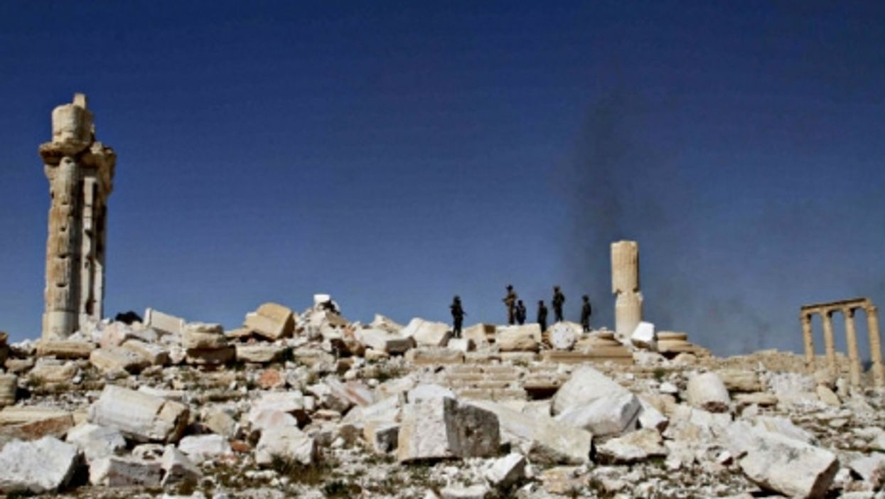 The rubble of Palmyra after Syrian regime forces took the site back from ISIS