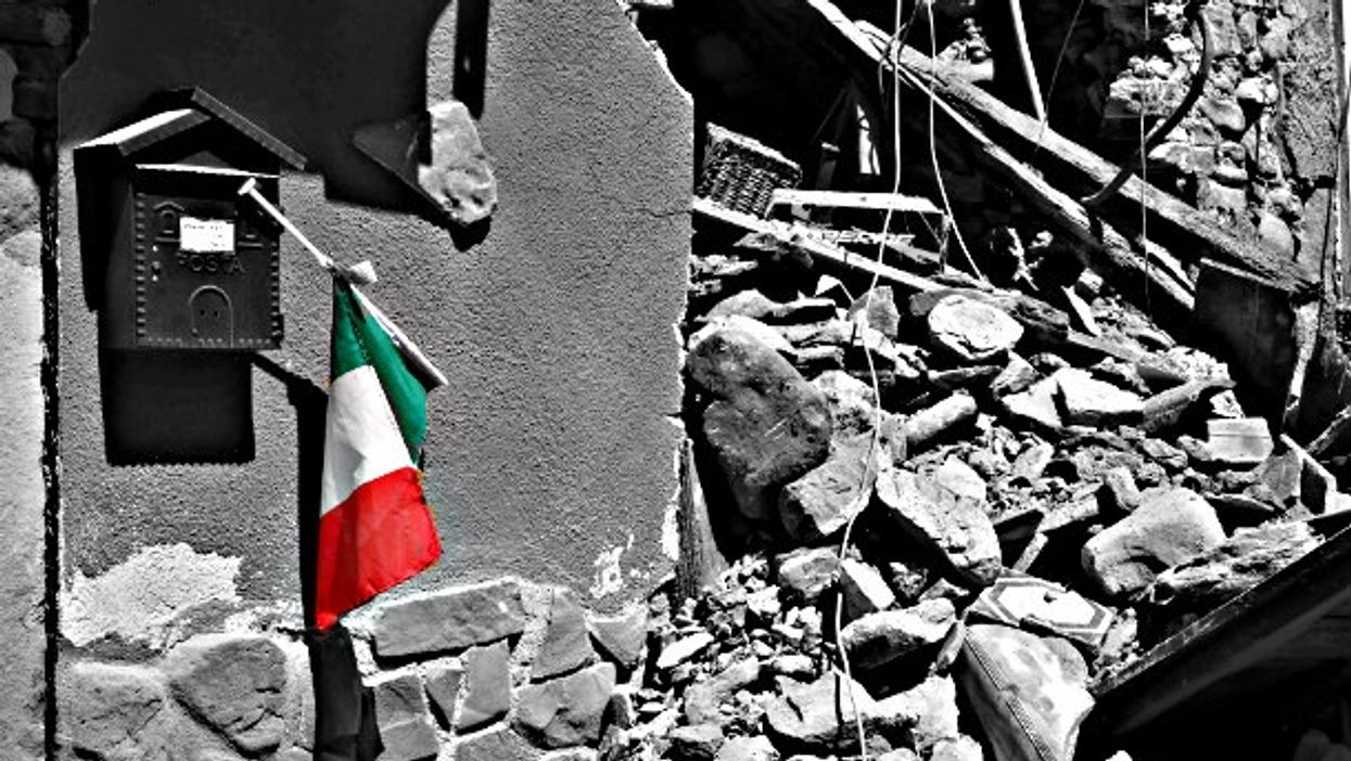 The rubble Sunday in Norcia