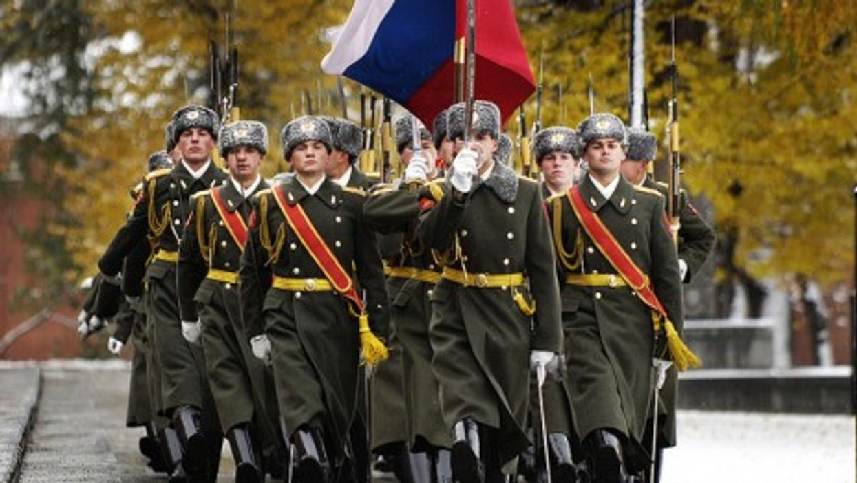 The Russian Honor Guard in Moscow