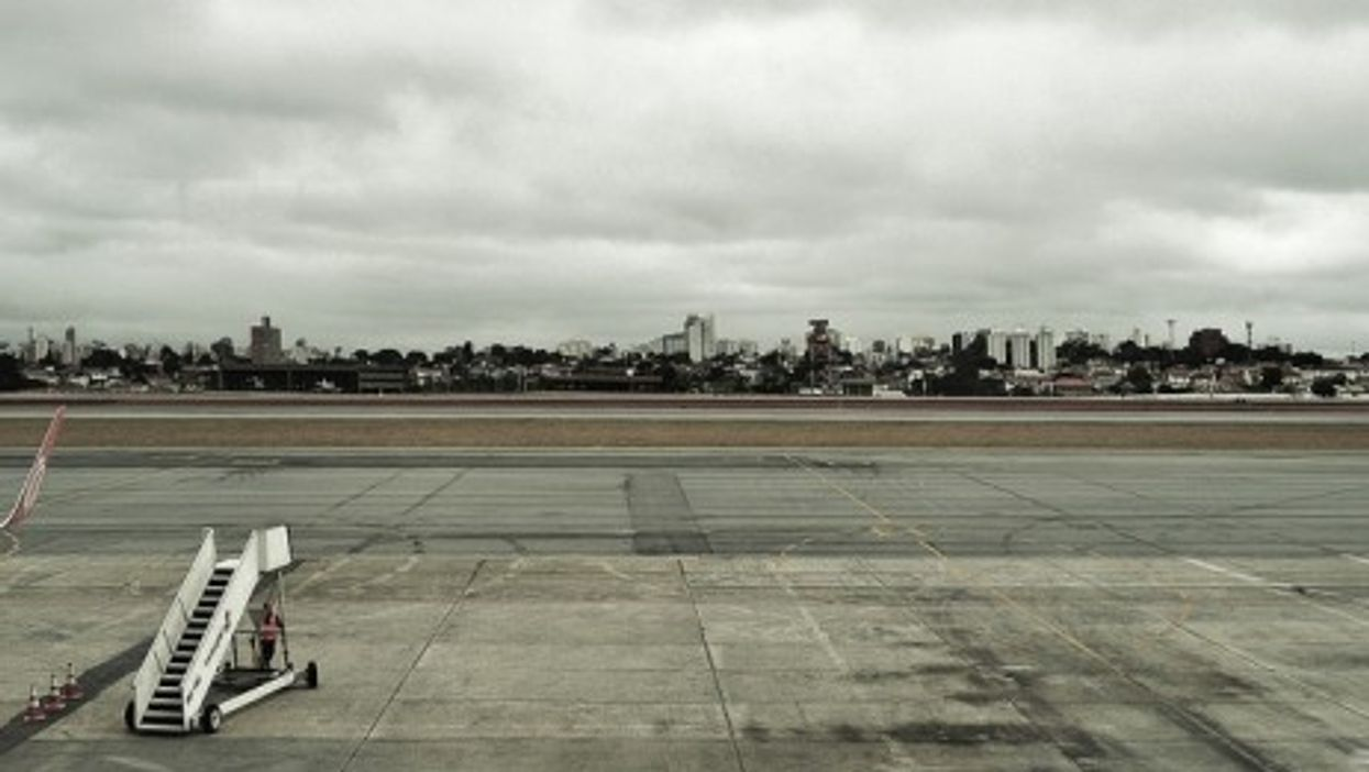 The Sao Paulo international aiport in Guarulhos, Brazil