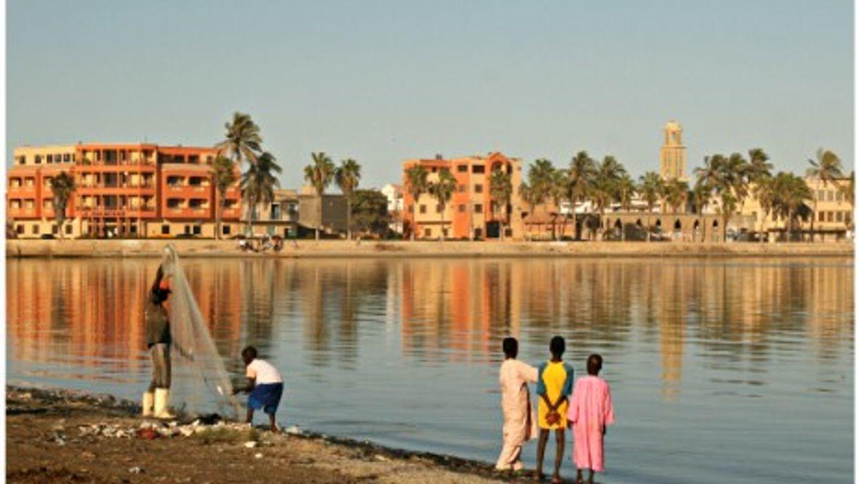 The Senegal River in Saint-Louis