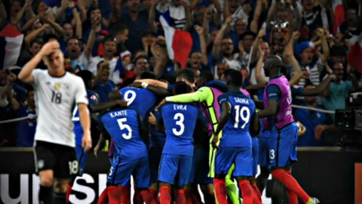 The singular French joy of beating the Germans.
