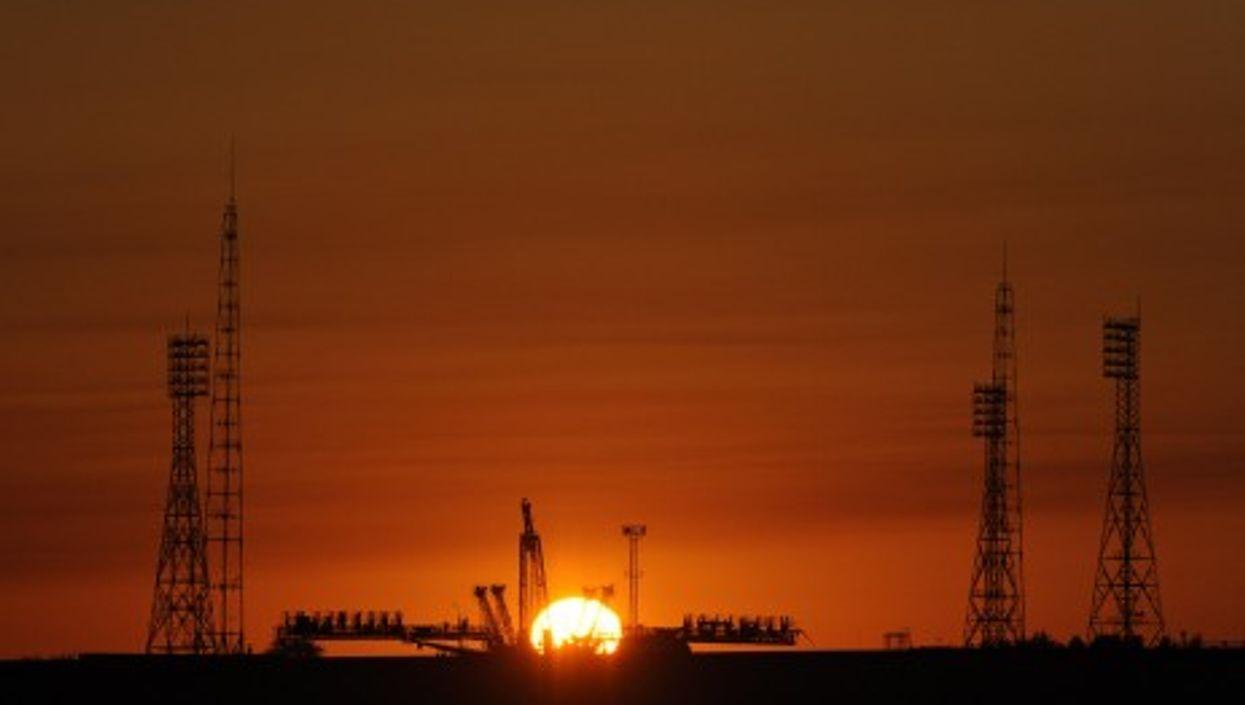 The Soyuz launchpad at the Baikonur Cosmodrome in Kazakhstan