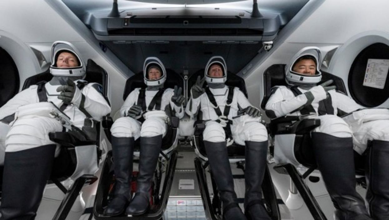 The SpaceX crew about to liftoff, 23 April 2021.