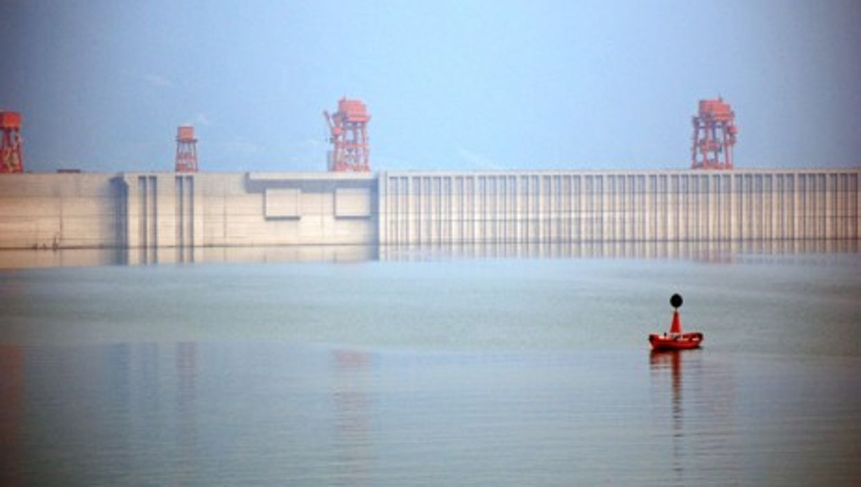 The Three Gorges Dam that spans the Yangtze River