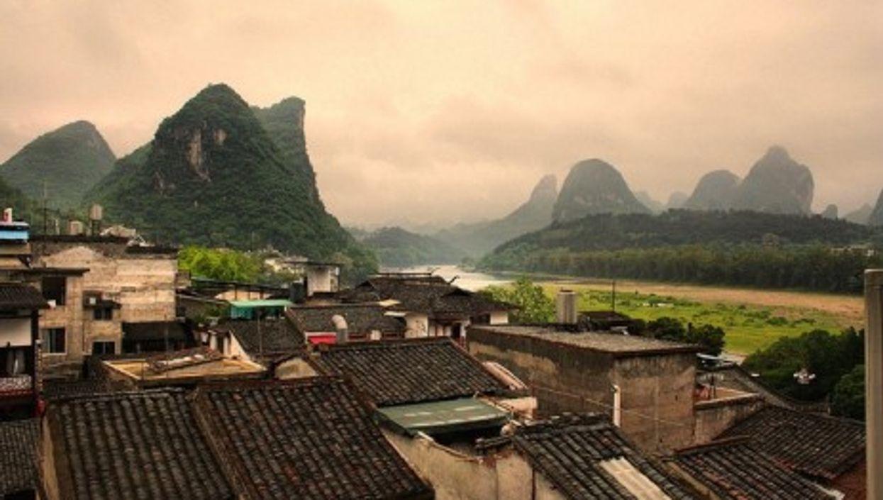 The tourist town of Yangshou in China's Guangxi Province