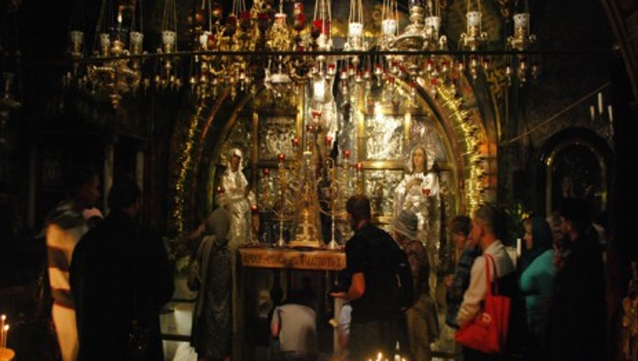 The traditional site of Golgotha, within the Church of the Holy Sepulchre.