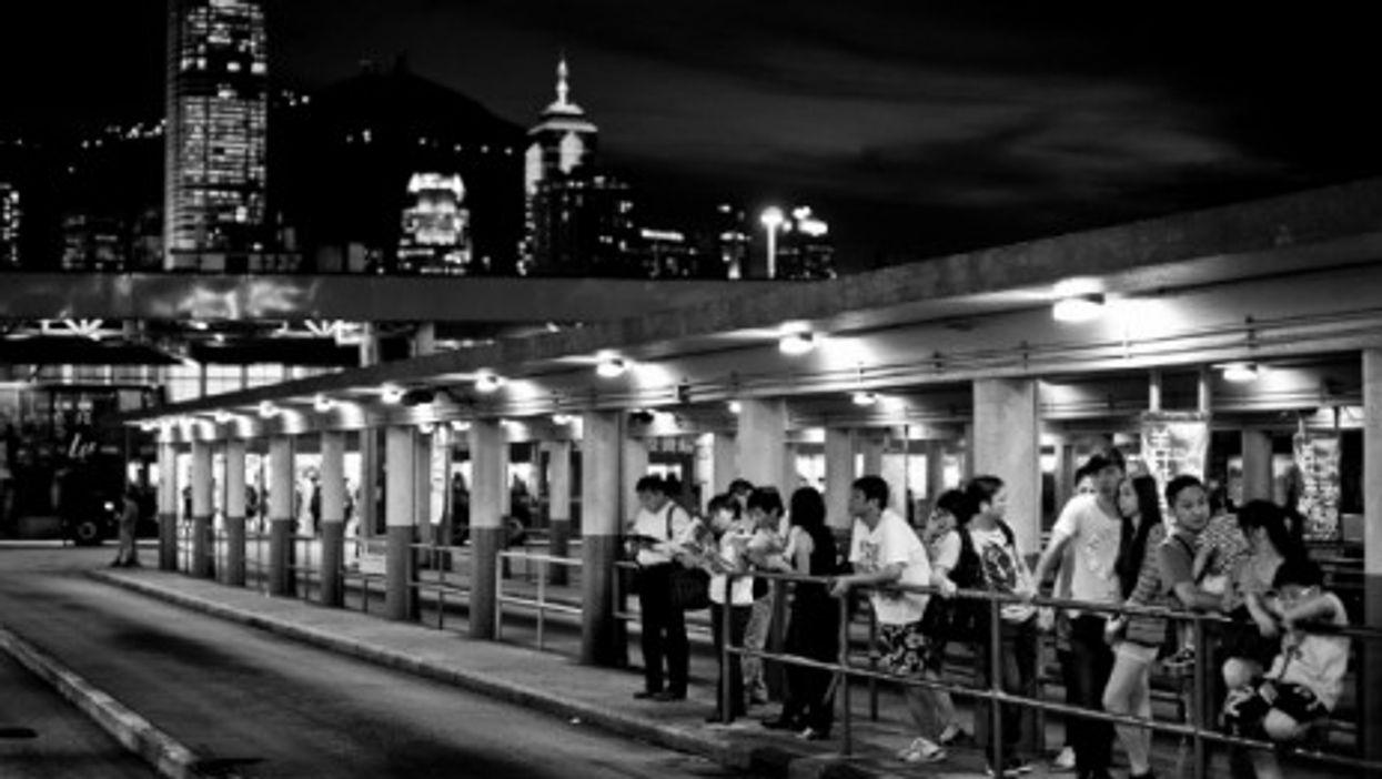 The Tsim Sha Tsui area in in southern Kowloon, Hong Kong