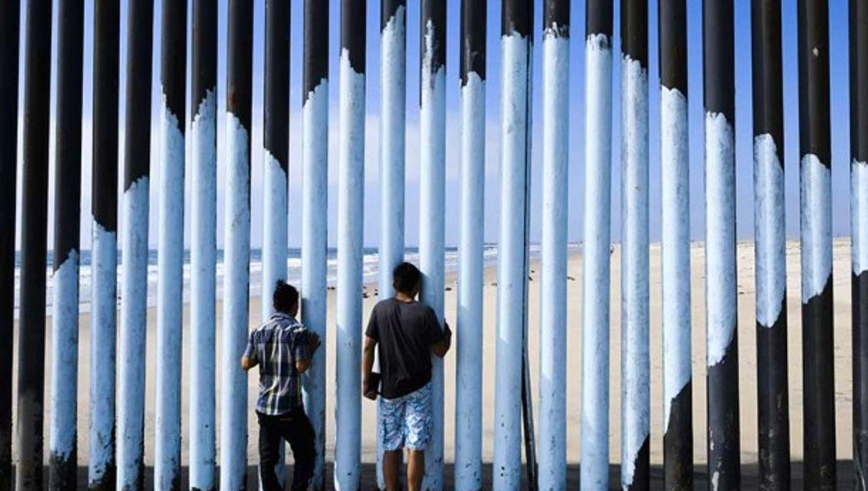 The US/Mexico border fence in Tijuana, Mexico