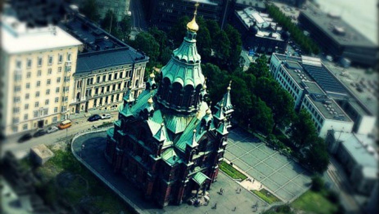 The Uspenski Orthodox cathedral in Helsinki