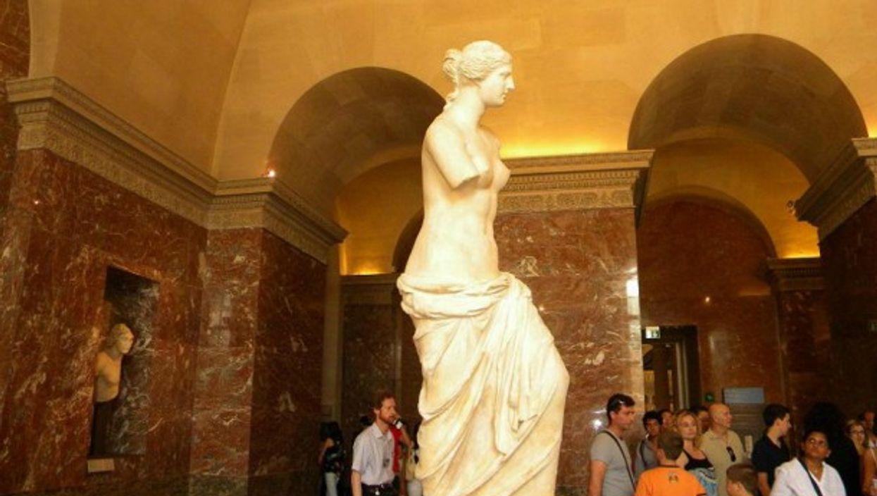 The Venus de Milo on display in the Louvre