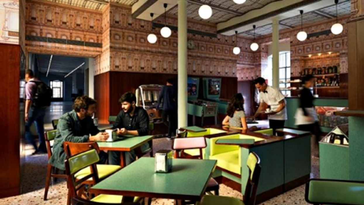 The Wes-Anderson-inspired Bar Luce in Milan