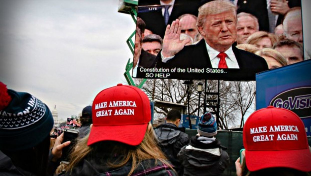 The world watches Trump take the oath.