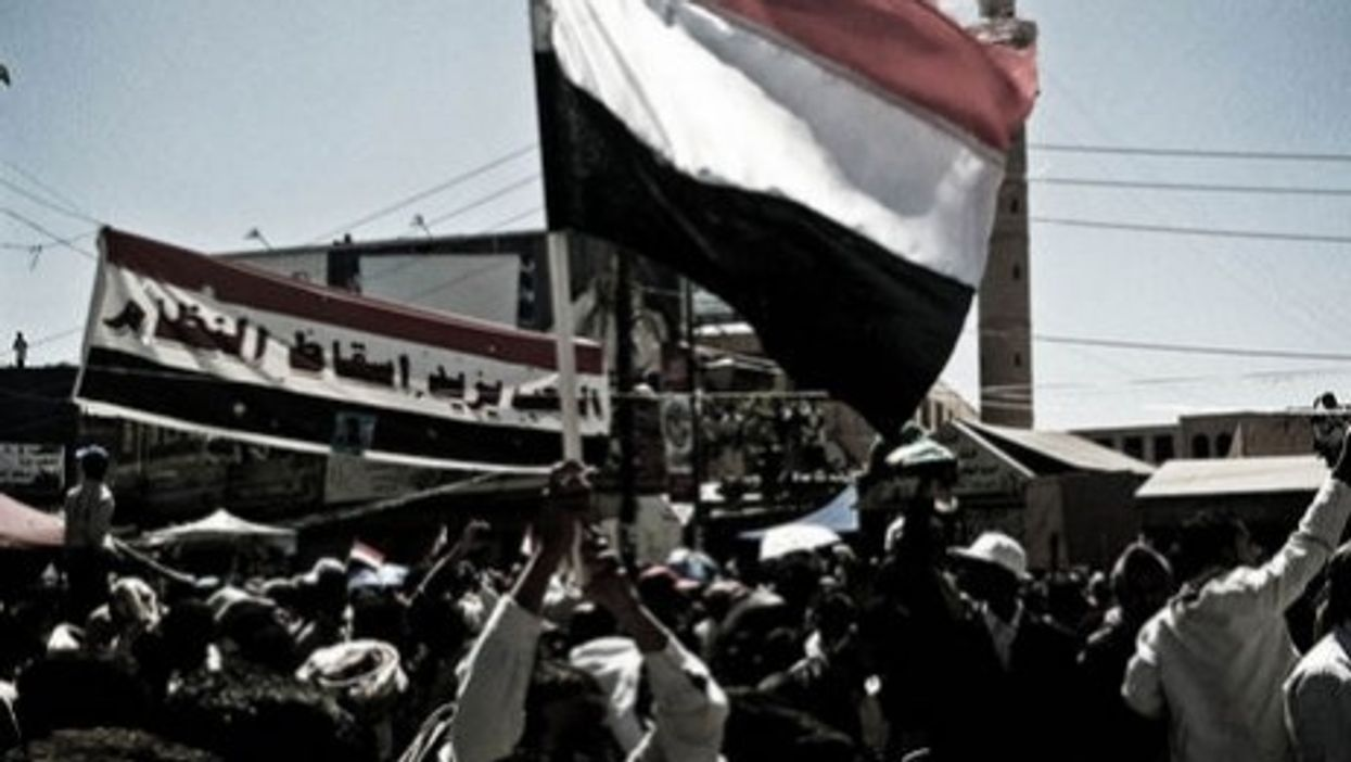 The Yemen flag, a symbol of the country's unity (Sallam)