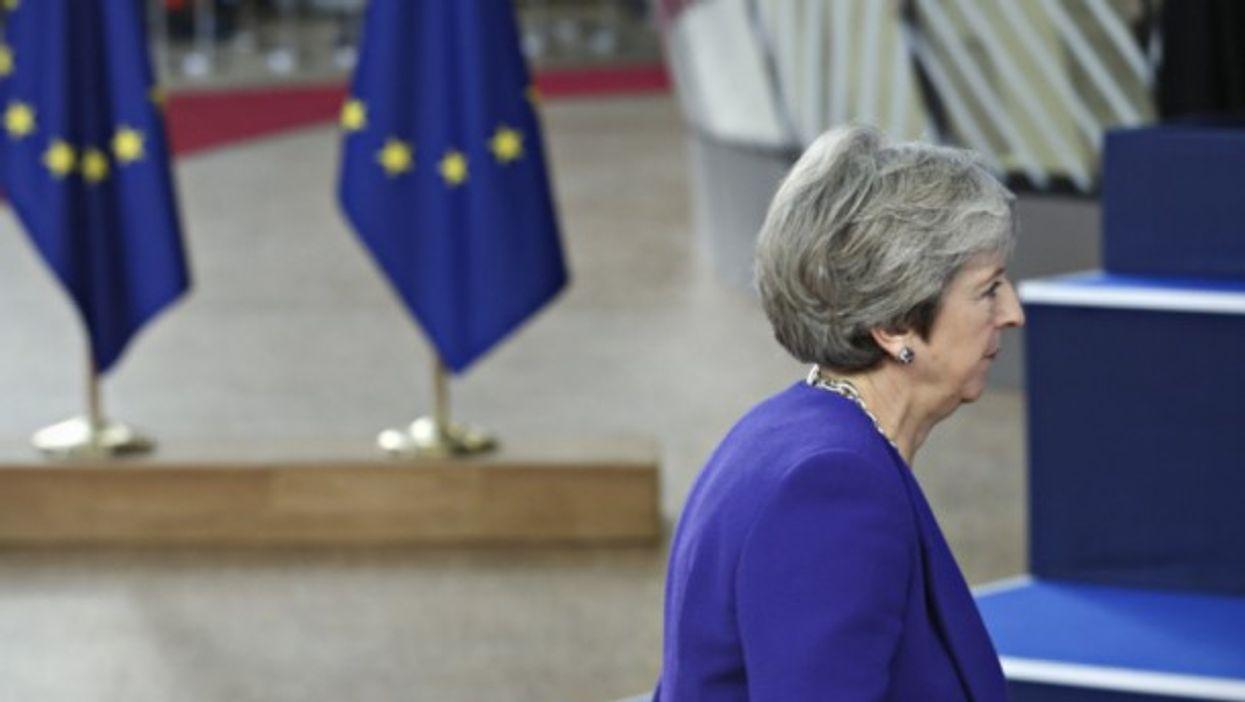 Theresa May on Oct. 18
