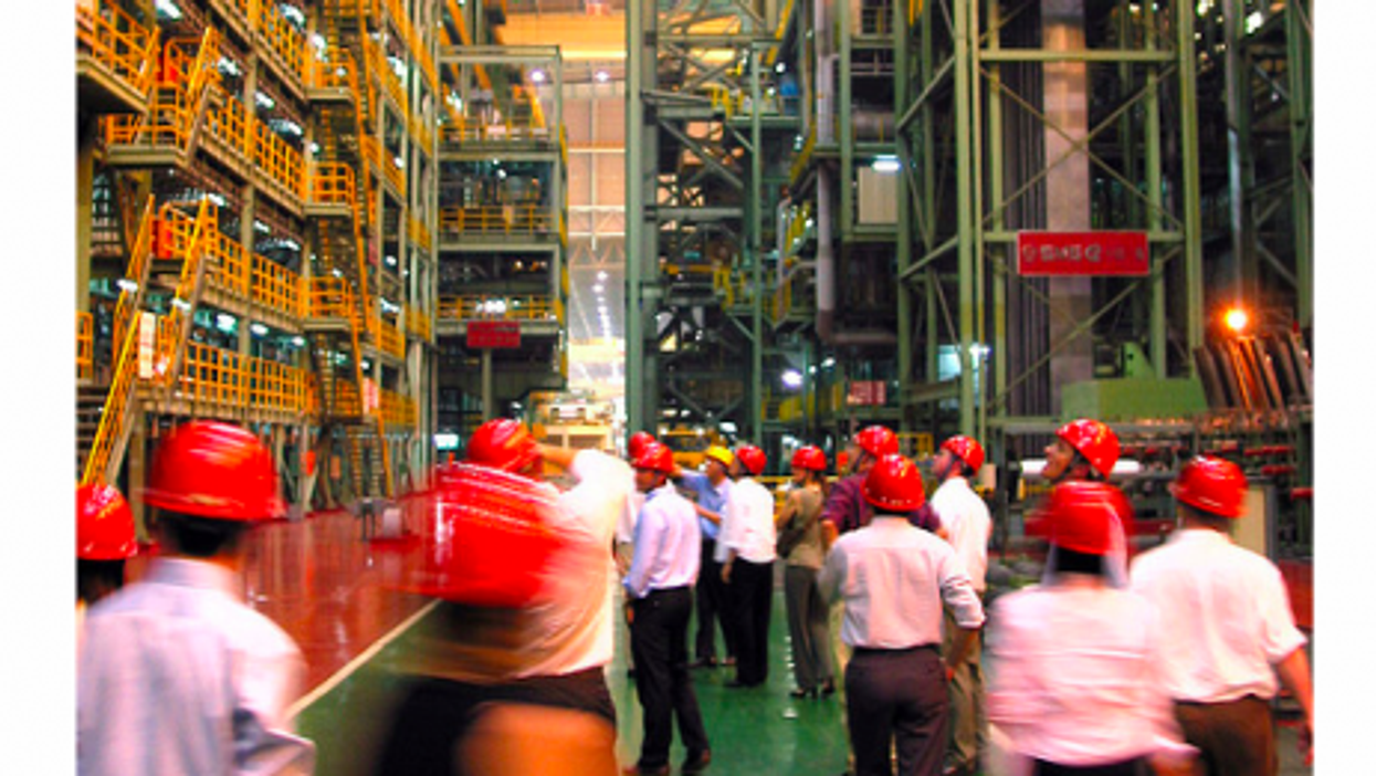"""""""Those were our jobs...!"""" Inside a Shanghai plant of steel giant Baosteel."""