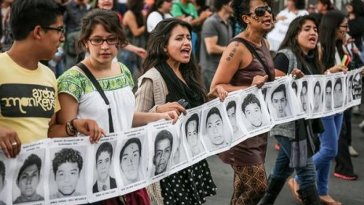 Thousands of angry protesters demonstrated across Mexico as outrage grows over student killings.