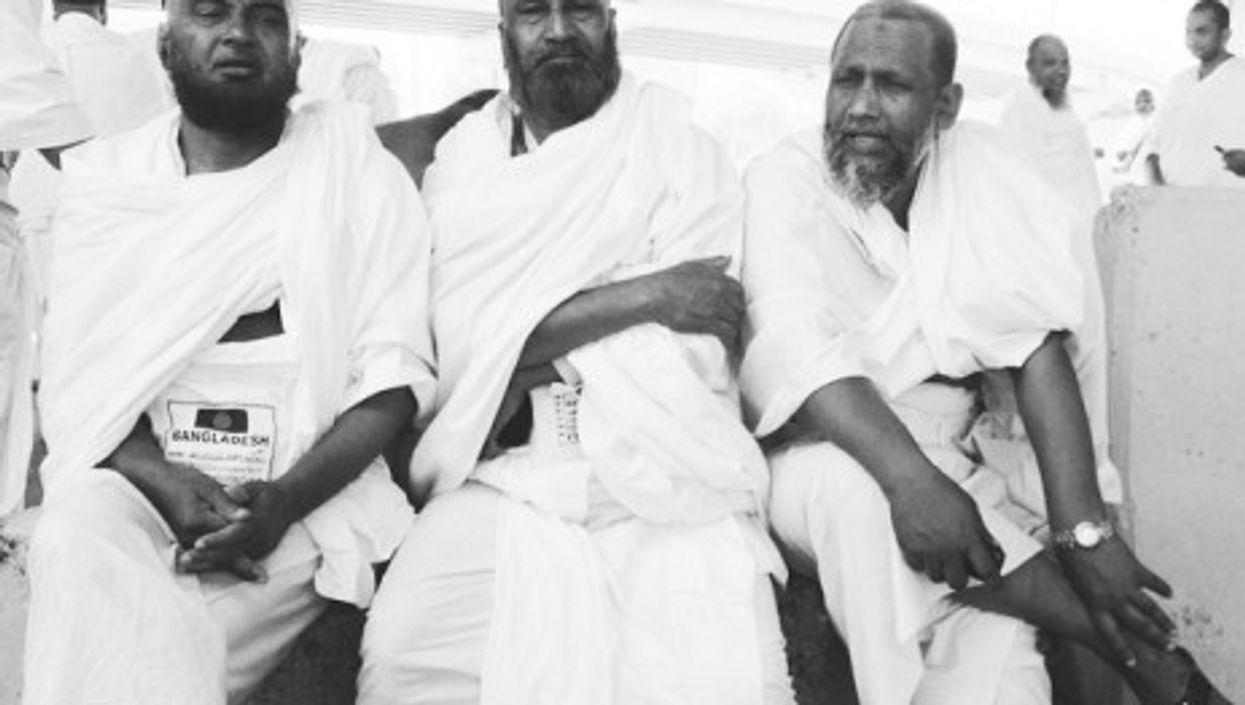 Three Muslims started the annual Hajj pilgrimage
