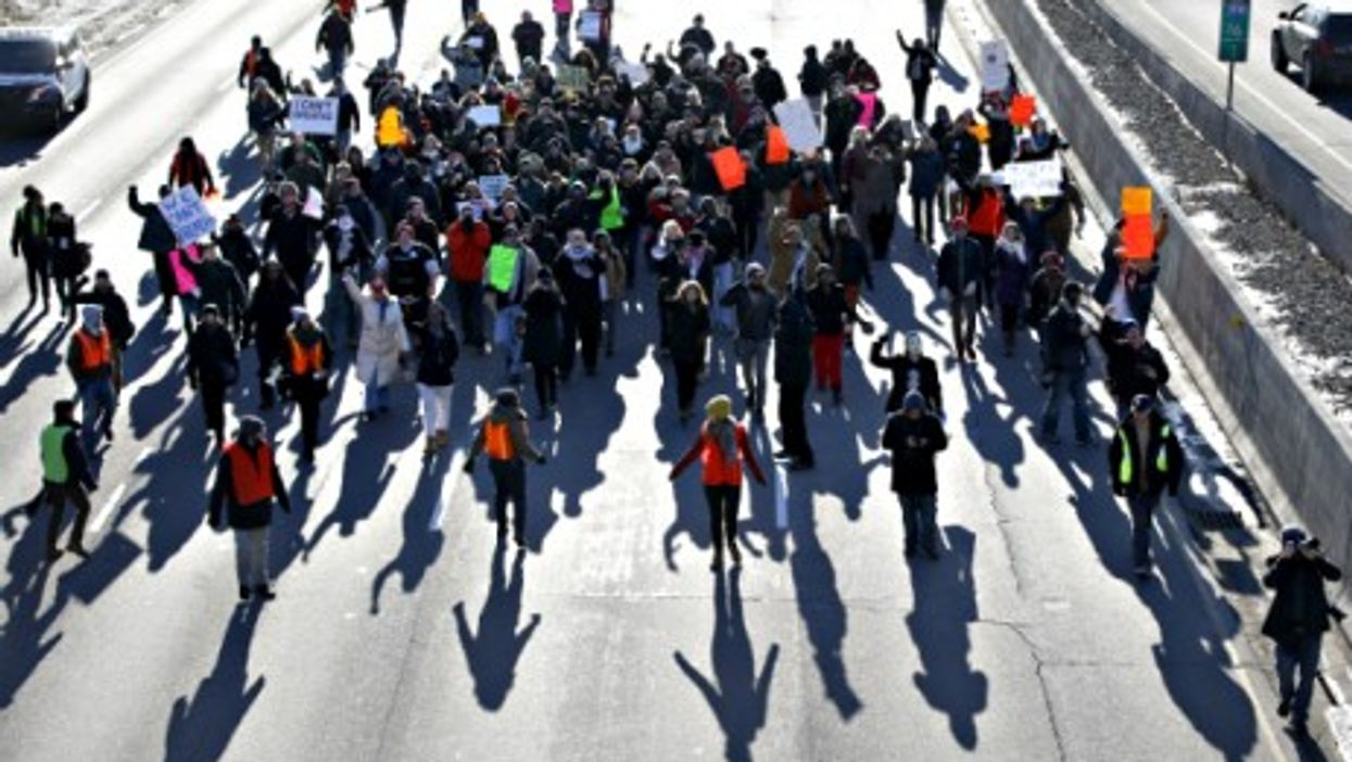 Thursday protests in Minneapolis over the grand jury decision in the Eric Garner case.