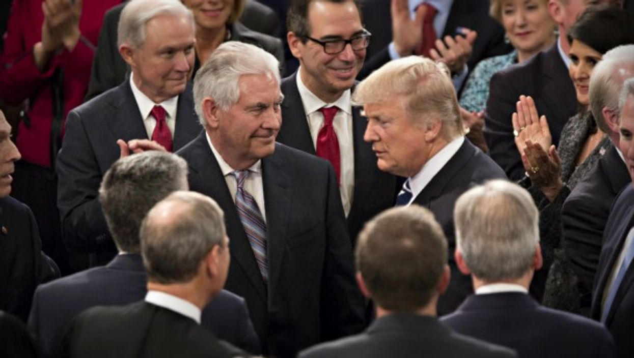 Tillerson and Trump in Washington, D.C. on Feb. 28