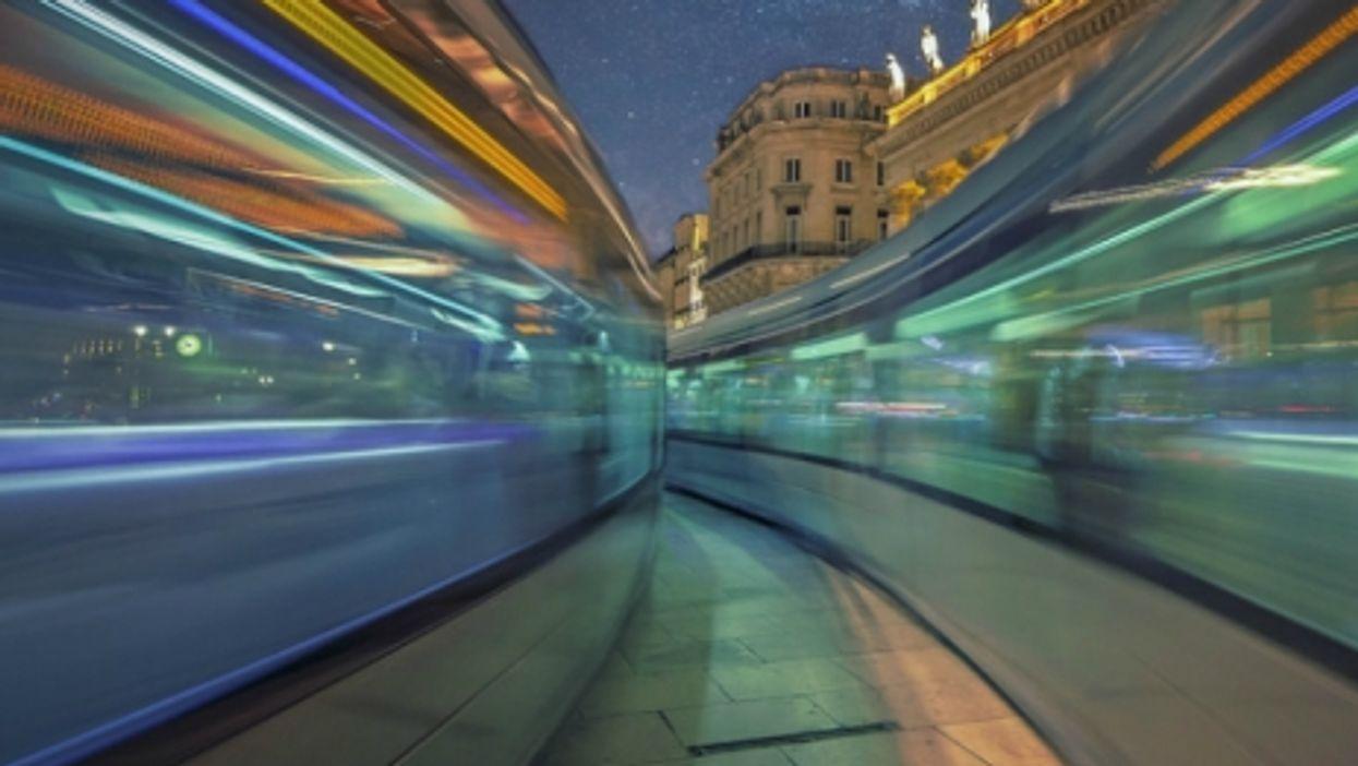 Time-lapse picture of Bordeaux, France.