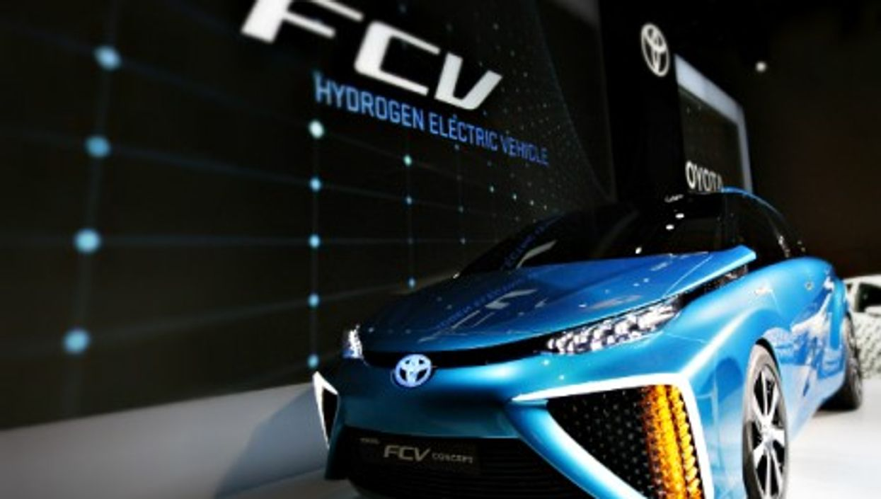 Toyota's FCV hydrogen electric concept car