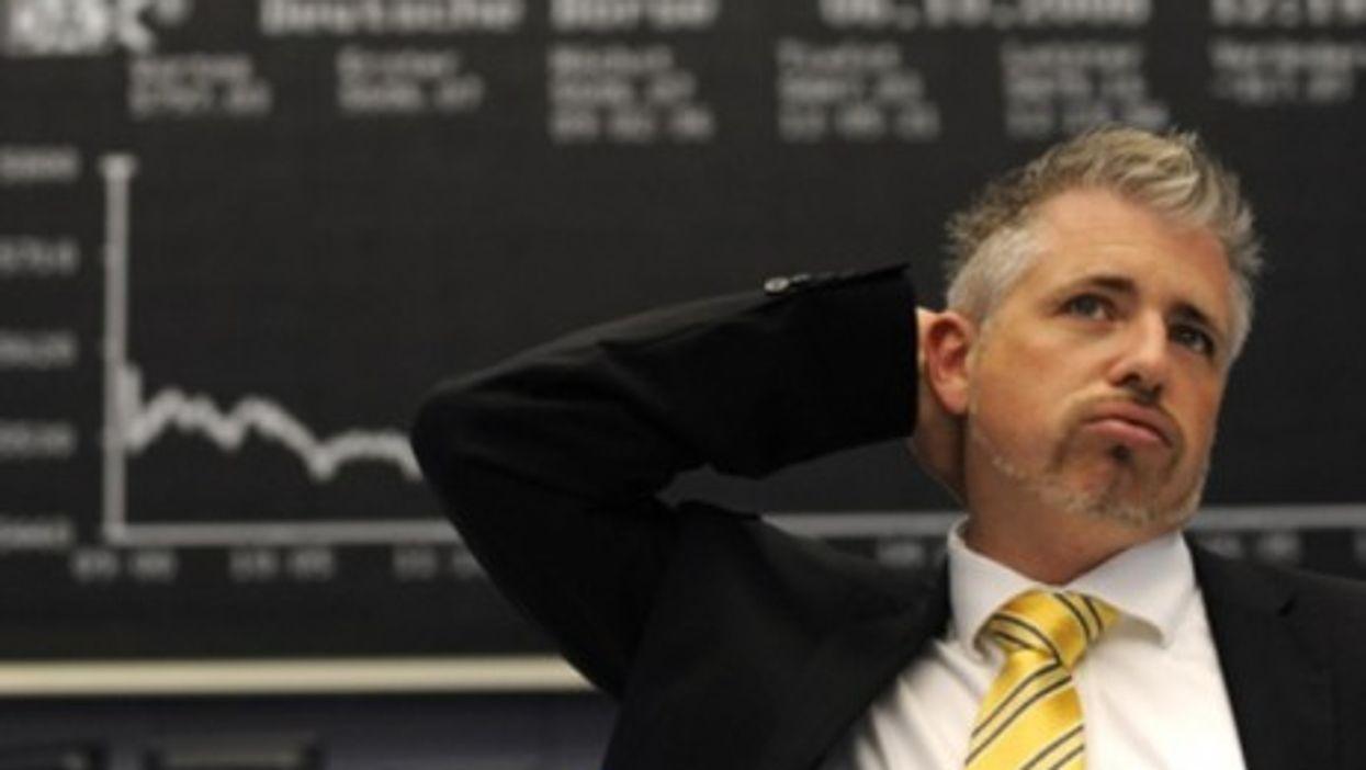 Trader Dirk Mueller at the Frankfurt Stock Exchange