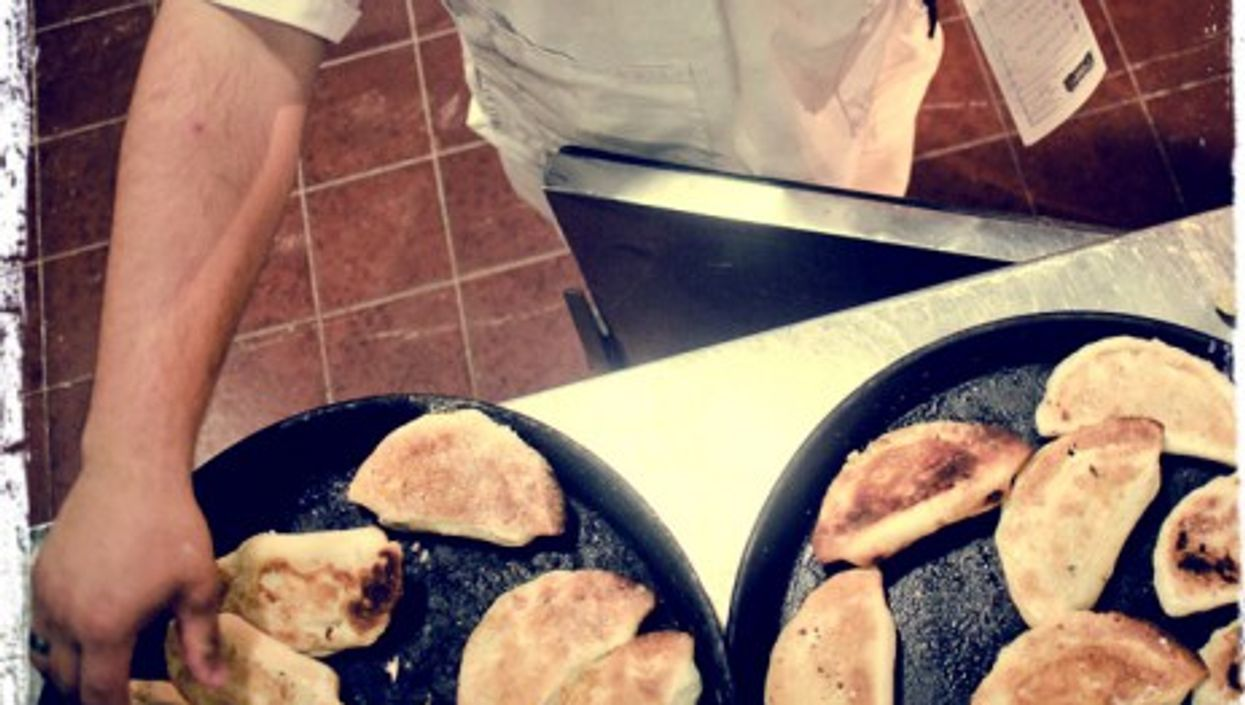 Traditional Argentinian dishes (here, empanadas) tend to be somewhat heavy...