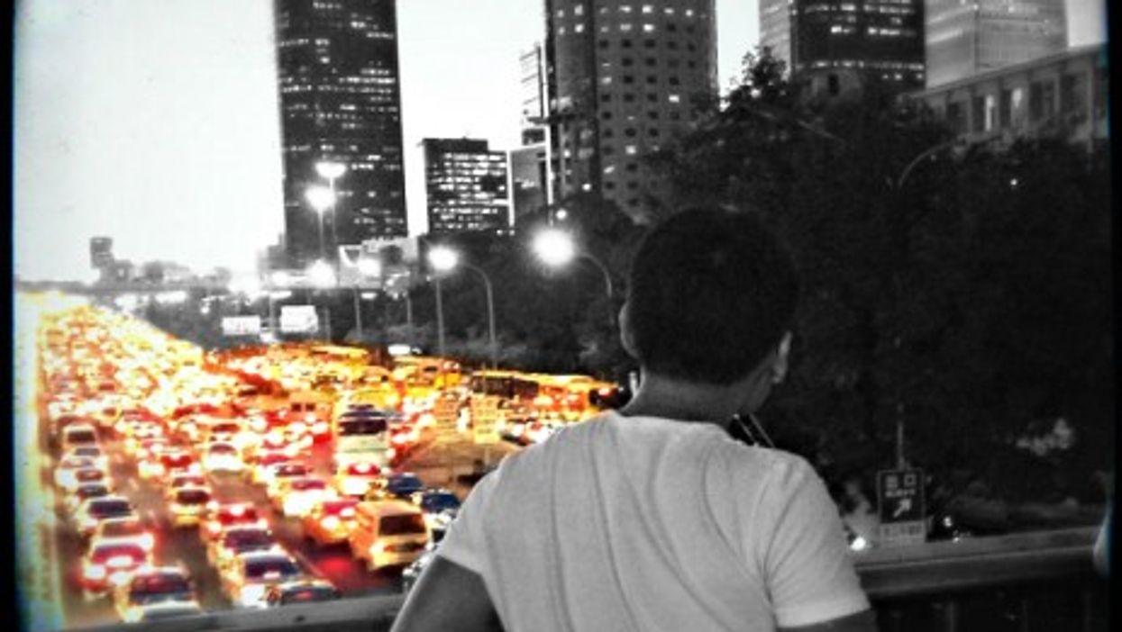 Traffic jam in Beijing
