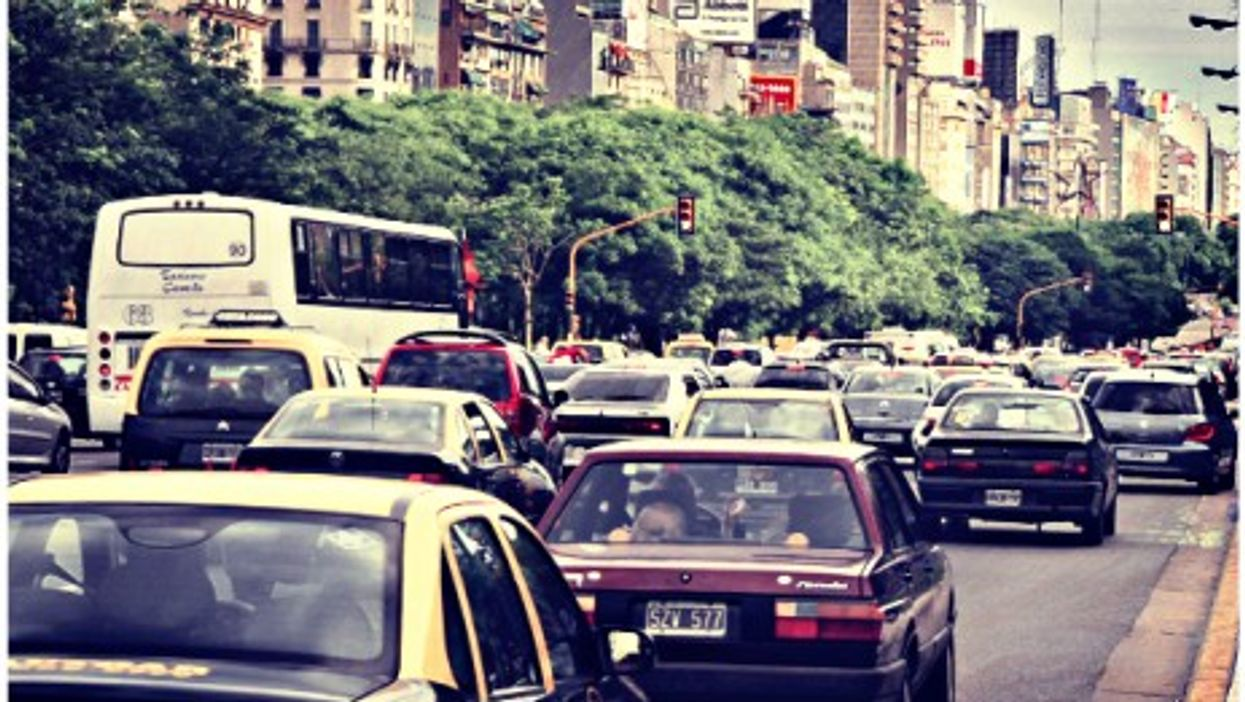 Traffic jam in Buenos Aires