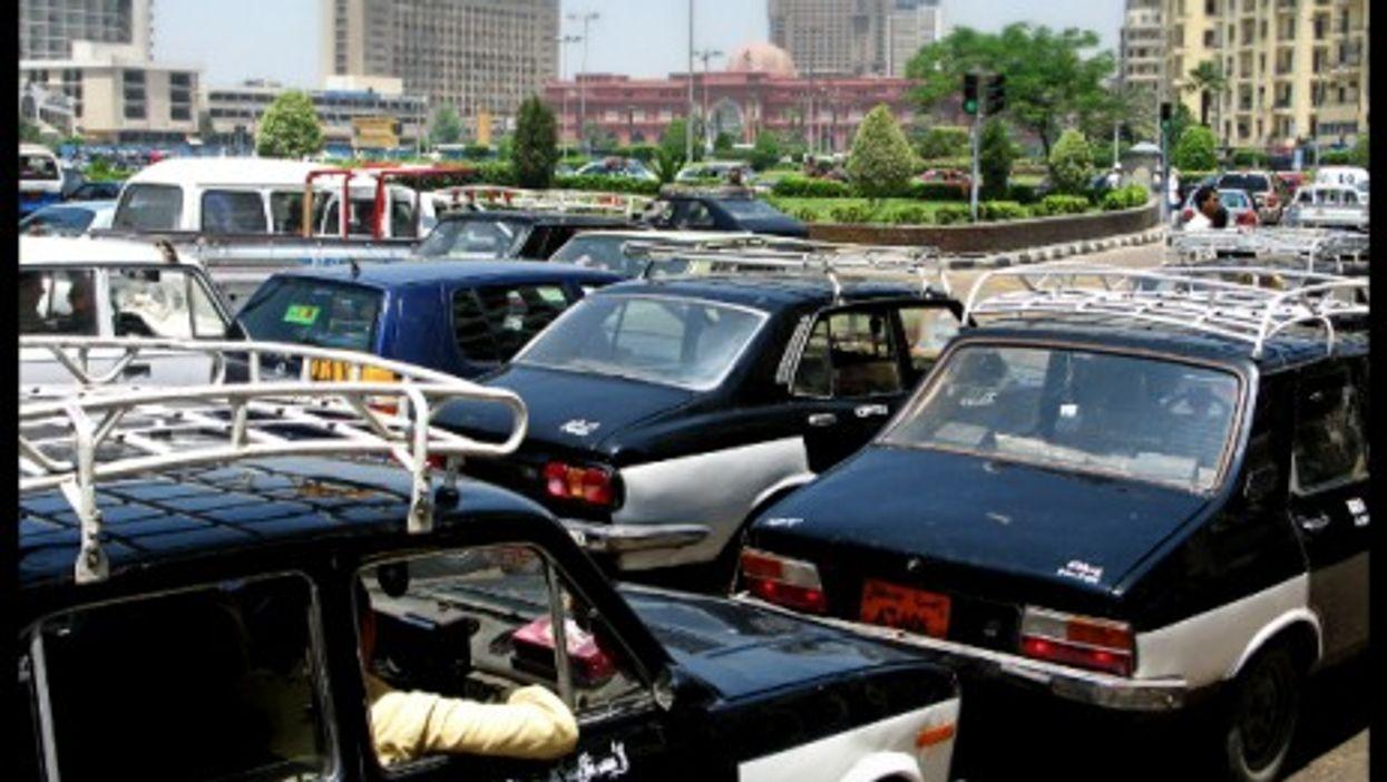 Traffic jam in Cairo