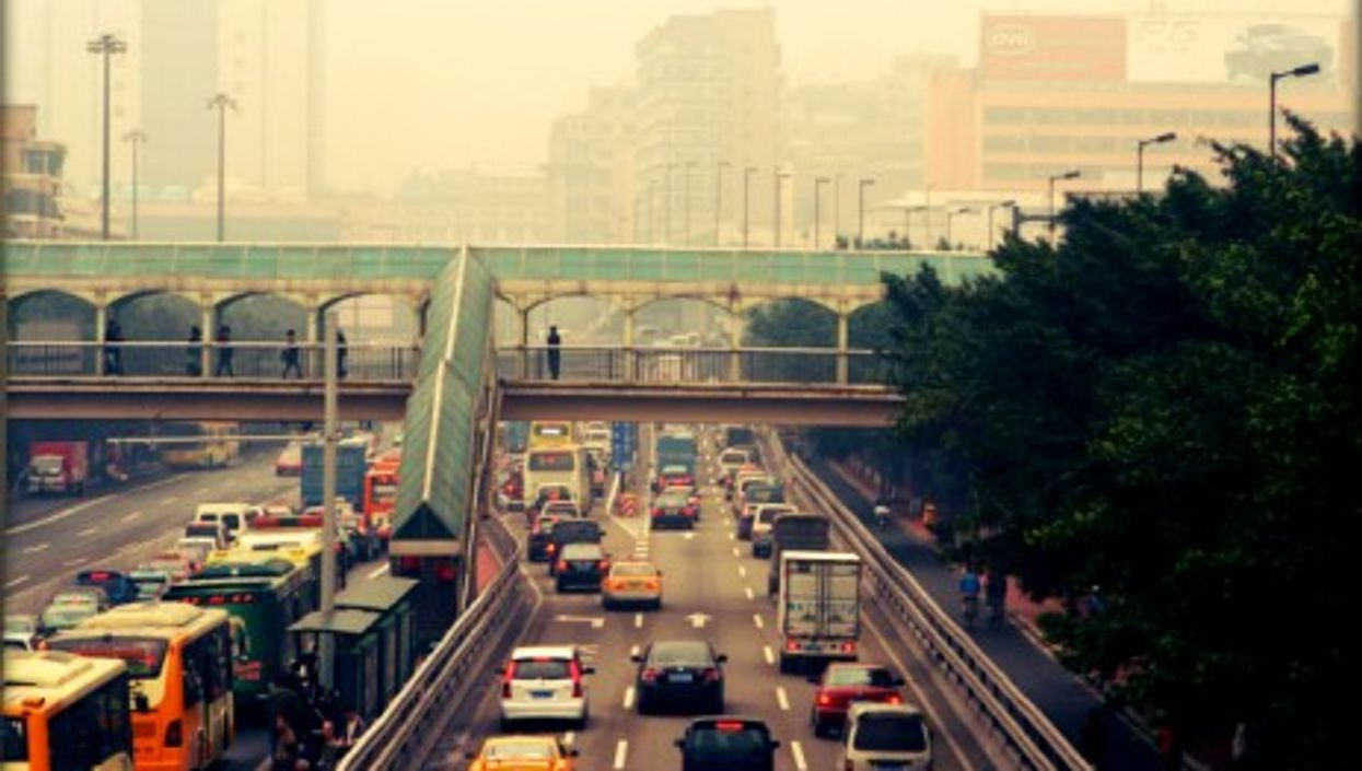 Traffic jam in Guangzhou