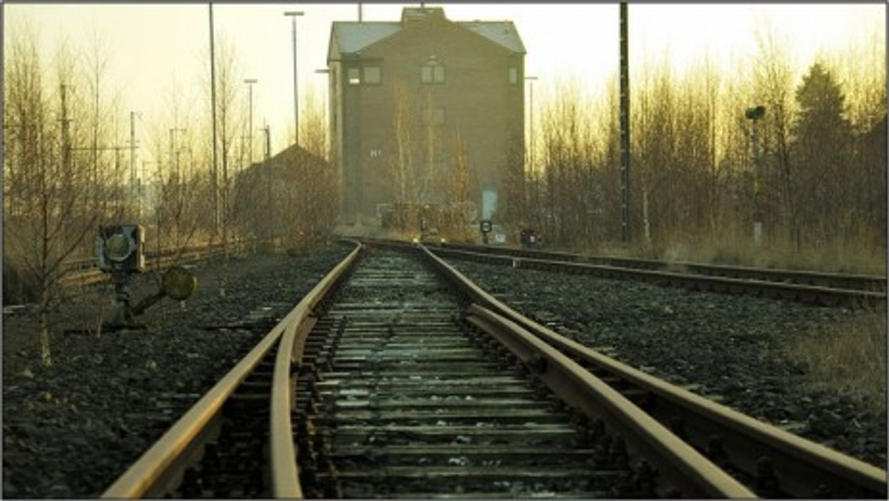 Train tracks in nothern Germany