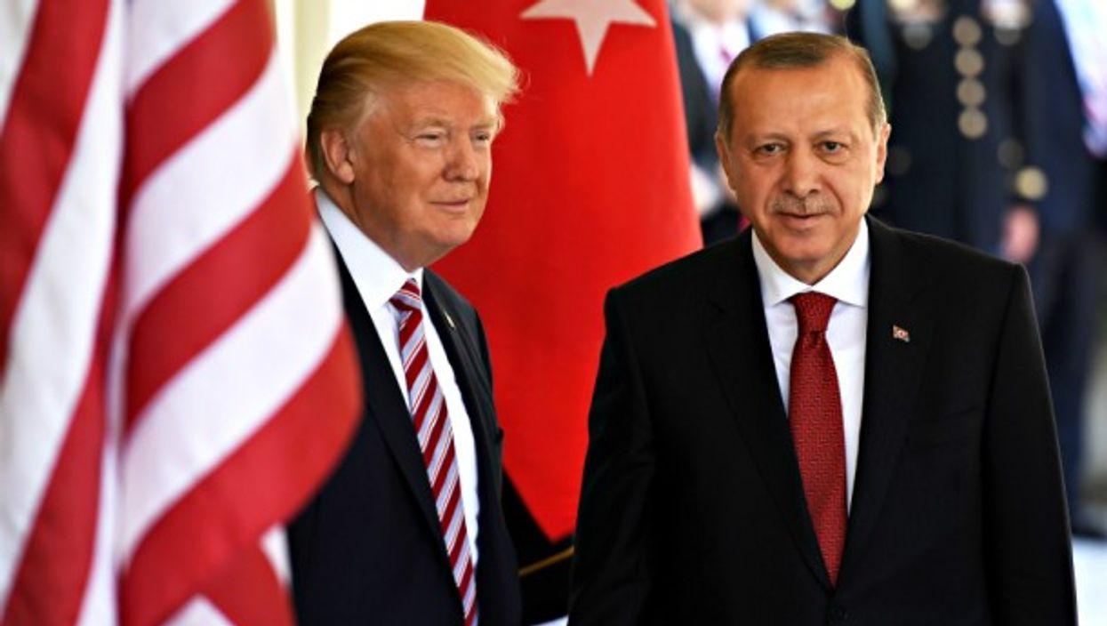 Trump and Erdogan in Washington on May 16