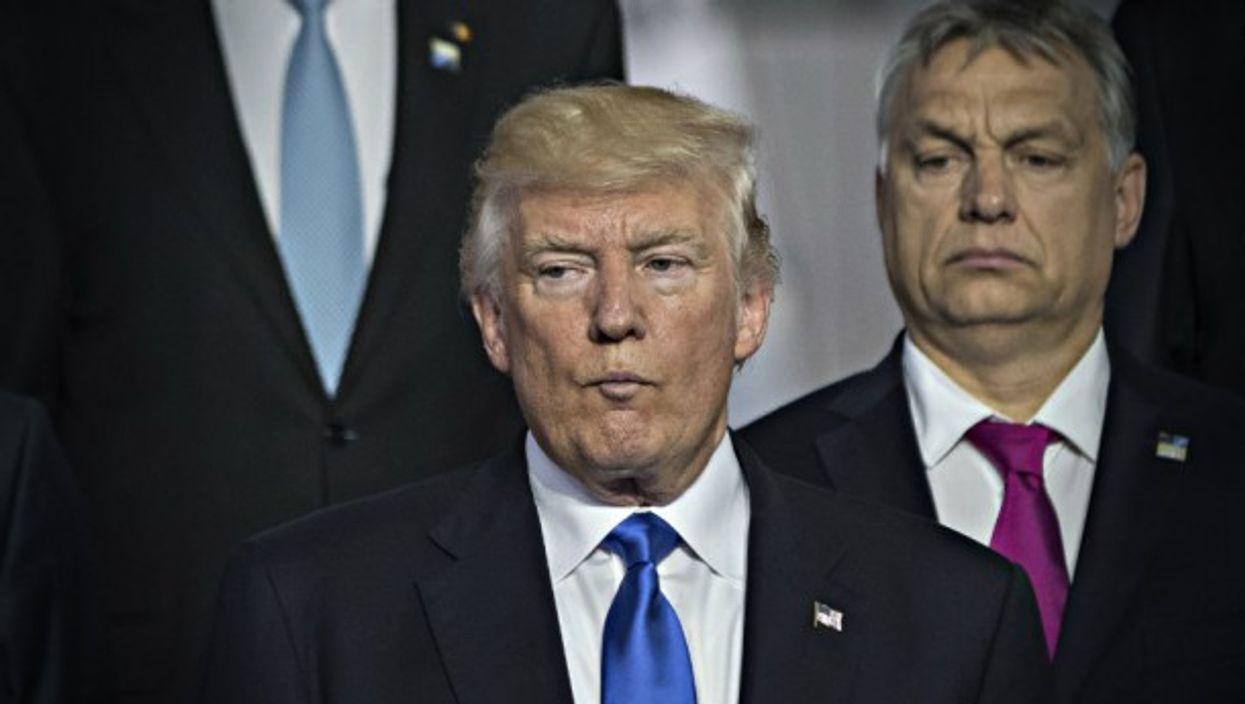 Trump and Hungarian Prime Minister Viktor Orban