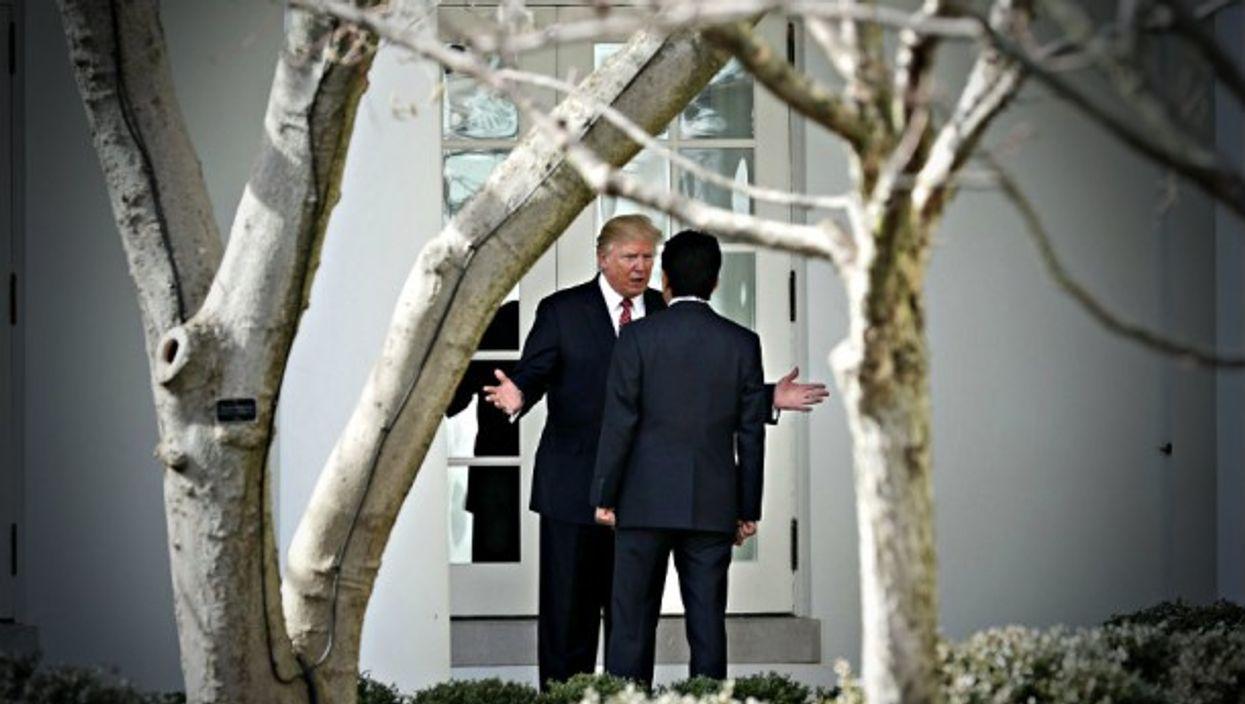 Trump and Japan's Shinzo Abe last month