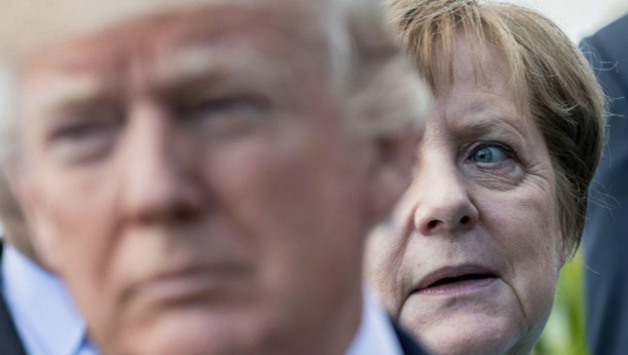 Trump and Merkel in Taormina on May 27