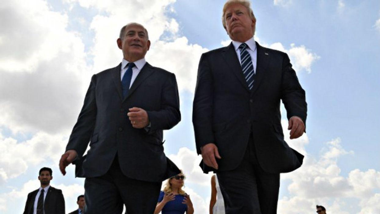 Trump and Netanyahu on May 23.