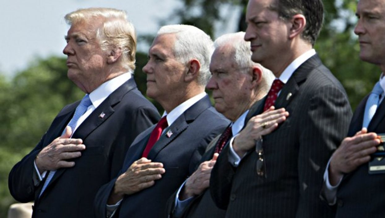 Trump and top members of his Administration in May