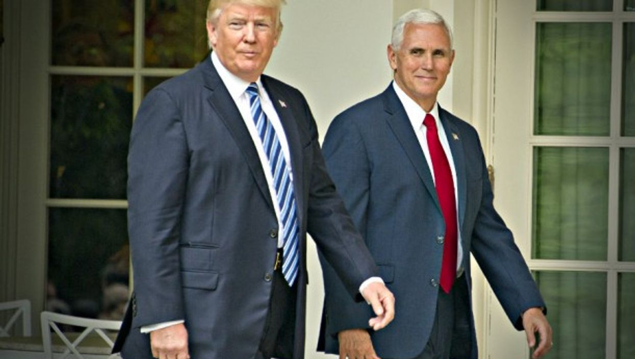 Trump and Vice President Mike Pence last month at the White House