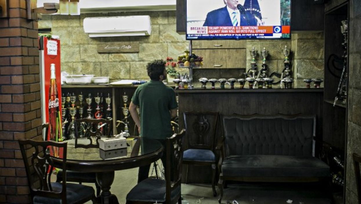 Trump on TV in Tehran on May 8