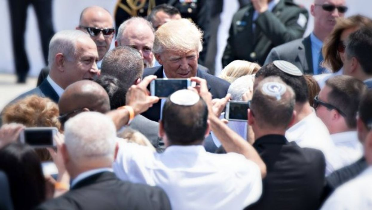 Trump's arrival in Israel on Monday
