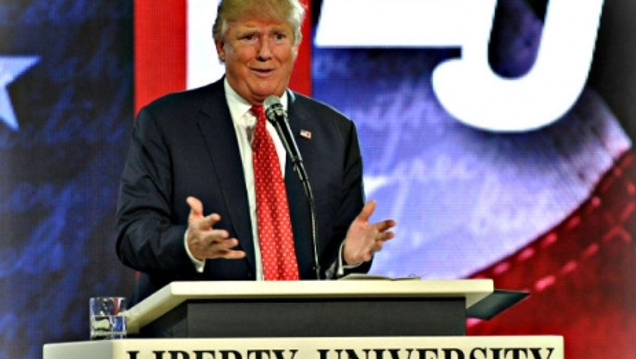 Trump speaking Monday at Liberty University